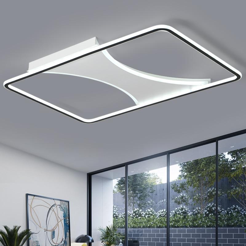 Chandelier Lighting for living room bedroom Lustre Rectangle LED Ceiling Wave Chandelier AC85 265V lamparas de