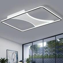 Люстра освещение для гостиной спальни блеск Прямоугольник светодиодный потолочный волновая люстра AC85-265V lamparas de techo современная лампа