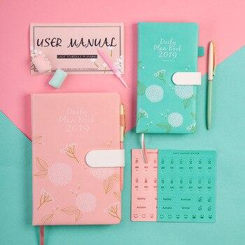 Agendas 2019 A5/A6 Notebook Bonito Diário Planejador Mensal Semanal Organizador Dos Artigos De Papelaria de Papel Dokibook Jornal Diário de Viagem Livro de Nota