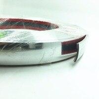 Car 25mm X 15meters Sticker Chrome Trim Molding Strip Exterior Bumper Body Strip Bumper Body Surround