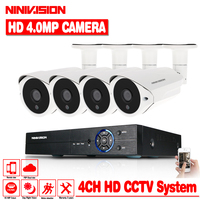 HD AHD 4MP 4CH HDMI 1080P 2K 4K Security Cameras System 4*2560*1440P Day Night Vision CCTV Home Security 4MP Camera Kits