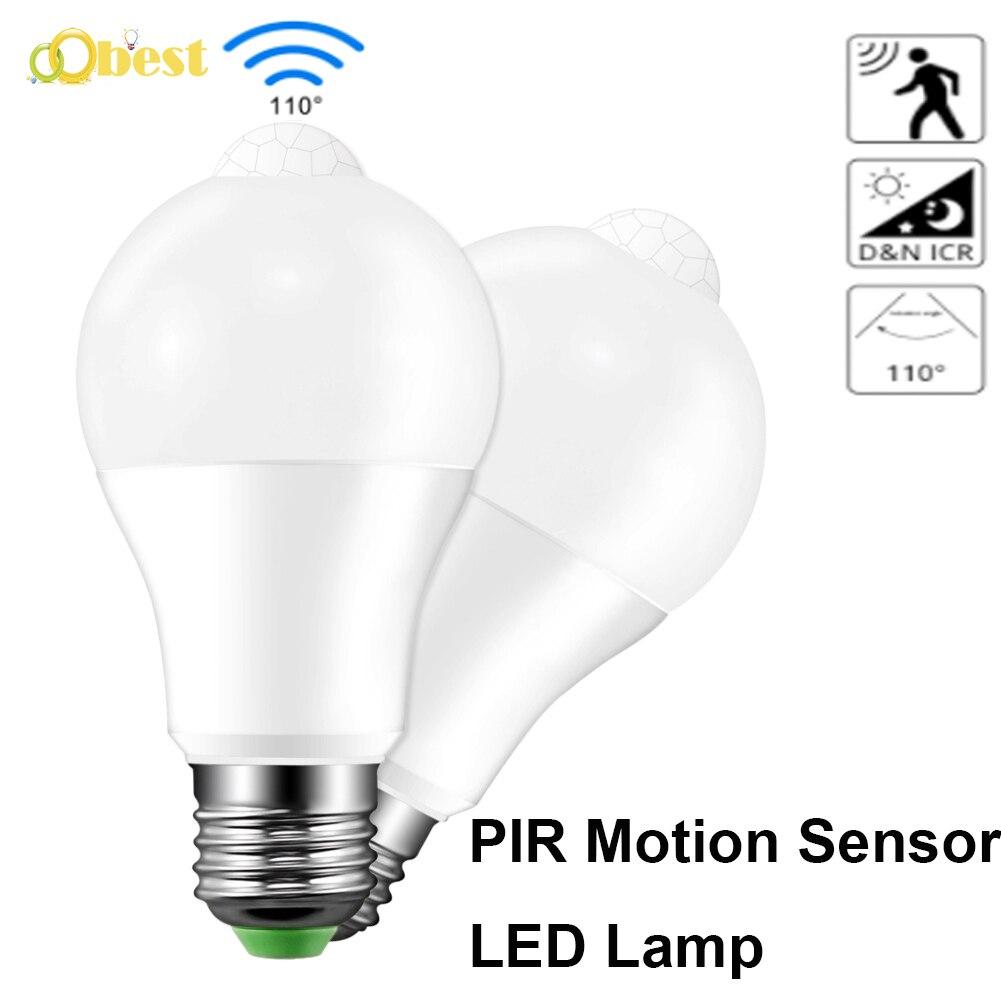 LED Lamp PIR Sound Control Auto Smart Sensor Acousto Optic Induction Bulb S //k