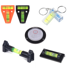 Measurement Spirit-Level Round T-Type Bubble-9-Styles Mini with Keychain Square