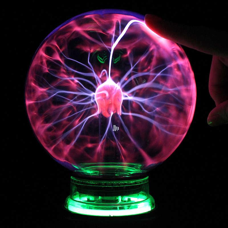 Новинка Освещение Стекло магический плазменный шар свет настольные огни Сфера подарок для детей Новогодний Рождественский ночник