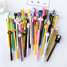 60PCS/SET Cute Cartoon Neutral Pen Japanese and Korean Writing Instrument Creative Signature Stationery