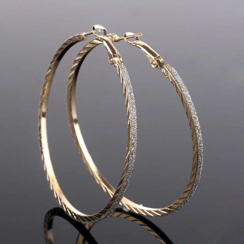 Simple Design Big Circle Hoop Earrings For Women Bohemian Bridal ...