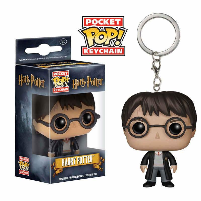 Nueva llegada llavero de bolsillo FUNKO POP Marvel Iron Man Juego de tronos Daenerys Harry Potter llavero coleccionable modelo regalos