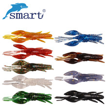 New 5pcs Shrimp Soft Baits 80mm 5.5g Artificial Fishing Lure 9 Colors Silicone Bionic Bait Swimbait Carp Wobblers Fishing Tackle