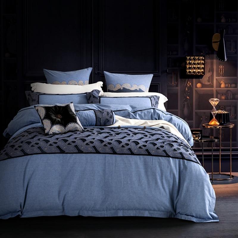 Online Get Cheap Brown Teen Bedding Aliexpresscom Alibaba Group - Blue and brown teen bedding