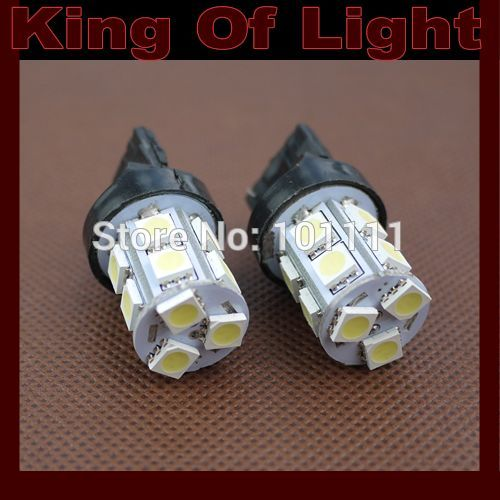 100x High quality led Car styling light T20 W21W 13smd 7440 13 LEDS SMD 5050 White blue red yellow Turn lignt Free shipping