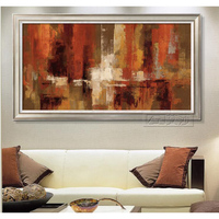 Free Shipping Artist Handmade Abstract brown Oil Paints Unique For Living Room Decoration Modern Abstract Pop Oil Painting