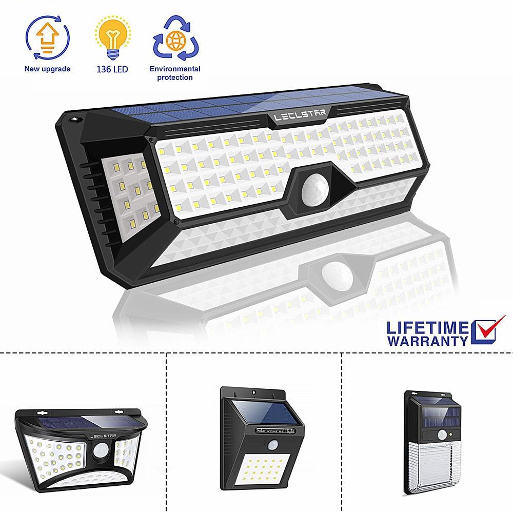 Motion Sensor Outdoor Wall Light Solar Powered Lamp Waterproof Garden Decoration Super Brighter Buitenverlichting Dropshipping