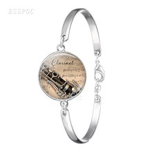 Модный серебряный браслет кларнет для женщин ручной работы стеклянный