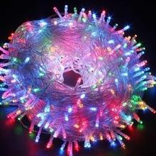 휴일 조명 10 m 20 m 30 m 50 m 100 m led 문자열 요정 빛 8 모드 크리스마스 조명 결혼식 파티 garlands 장식 조명