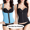 Cremallera cintura trainer caliente para las mujeres la cintura cincher body shaper adelgazamiento cinturón de cintura de la talladora corsés whoelsale debajo del busto chaleco