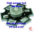 Factory Sale,Free shipping! 50PCS/LOT 3W  blue High Power460NM LED Emitter Light  with 20mm Star Platine Heatsink
