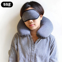 AAG U-Shape Travel Pillow for Airplane Poly Neck Accessories 4Colors Comfortable Pillows Sleep Home Textile