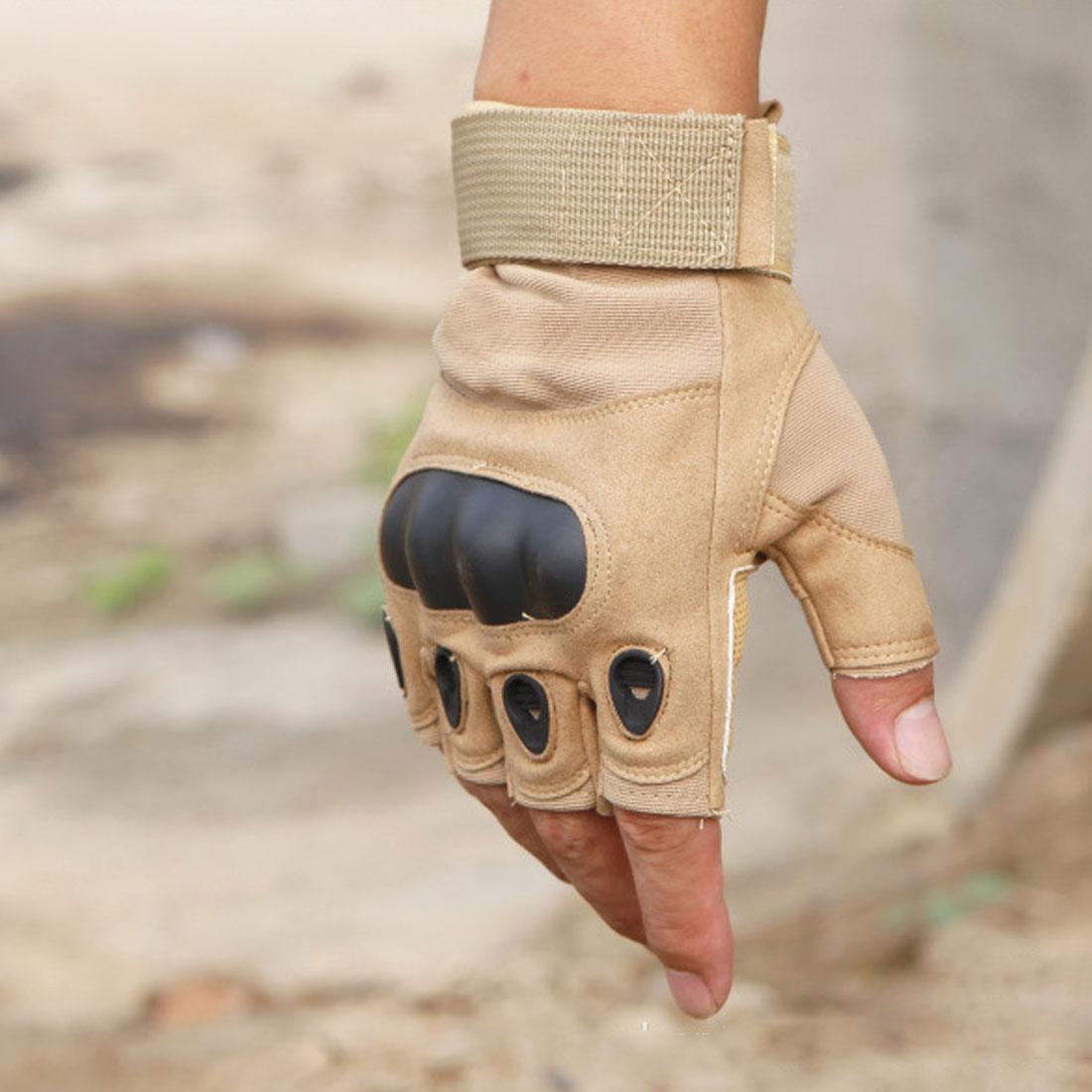 חם 1 זוגות כפפות טקטיות חצי אצבע ללא אצבעות כפפות לגברים פעילות גופנית ספורט לביש