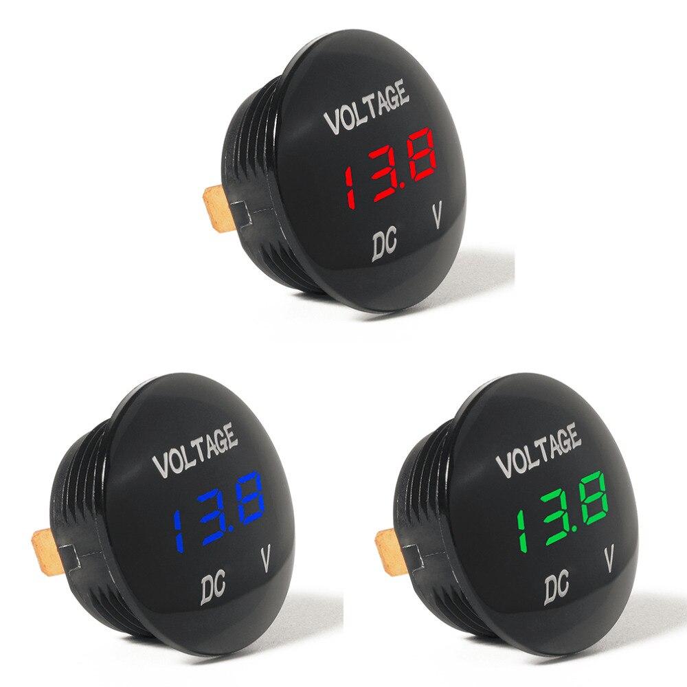 Waterprof Voiture LED 12-24 V Court-Circuit De Protection Batterie Moniteur Précise Affichage Numérique Tension Mètre Thermomètre Vente Chaude