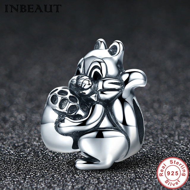 Inbeaut 925 sterling silver scatter lady lovely squirrel pendant inbeaut 925 sterling silver scatter lady lovely squirrel pendant solid cute animal cartoon charm fit pandora aloadofball Gallery