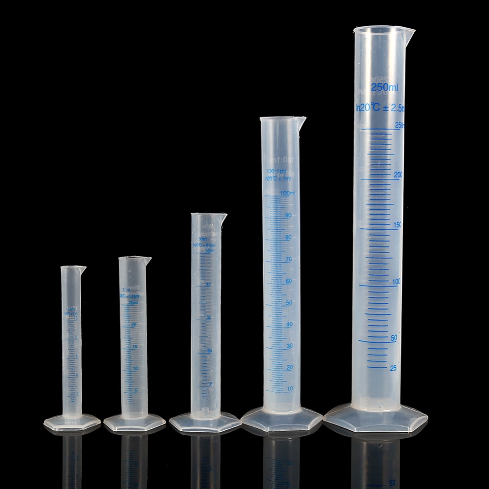 10ml 250ml Plastic Measuring Cylinder Graduated Cylinders