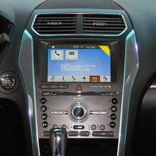Комплект бюстгальтеров для салона автомобиля, центральная консоль управления, панель переключения передач, невидимая Защитная пленка для Ford Explorer U502, аксессуары