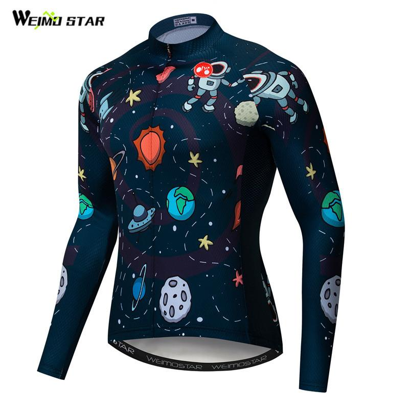 Weimostar Cycling Jersey 2019 Long Sleeve Men Cycling Clothing Autumn Quick Dry mtb Bike Jersey Bicycle Clothes Maillot Ciclismo