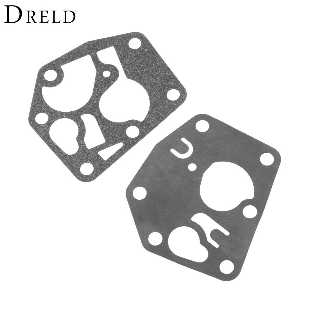 DRELD Replacement Carburetor Diaphram Kit Lawn Mower Lawnmower Carb Gasket for Briggs & Stratton 495770 795083 5083D Tool Parts 690115 carburetor carb replacement gasket accessories set kit replacement fit for 690111