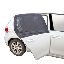 2 PCS Auto Side Rear Window Sun Shade Black Mesh Car Cover UV Protection Mesh Mosquito Dust Protection