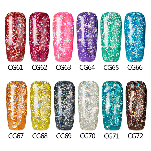 Azure 12ml UV Nail Gel Polish Long Lasting UV LED Nail Polish Lacquer Need UV Gel Base And Top Coat Choose 1 Bottle Gelpolish