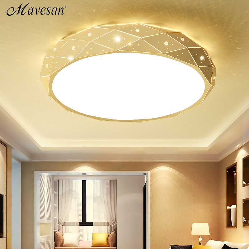 2017 new medern LED crystal ceiling lights for Living room Bedroom Indoor home Light plafon Ceiling Lamp  luminaire lampe deco noosion modern led ceiling lamp for bedroom room black and white color with crystal plafon techo iluminacion lustre de plafond