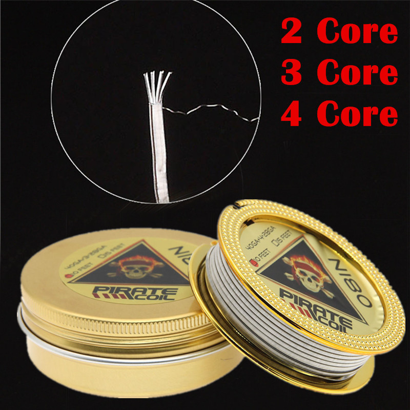 High Quality 10feet/roll NEW PIRATE Wire Clapton Wire for RDA RBA Rebuildable Atomizer Heating Wires Coil Alien Clapton Heating