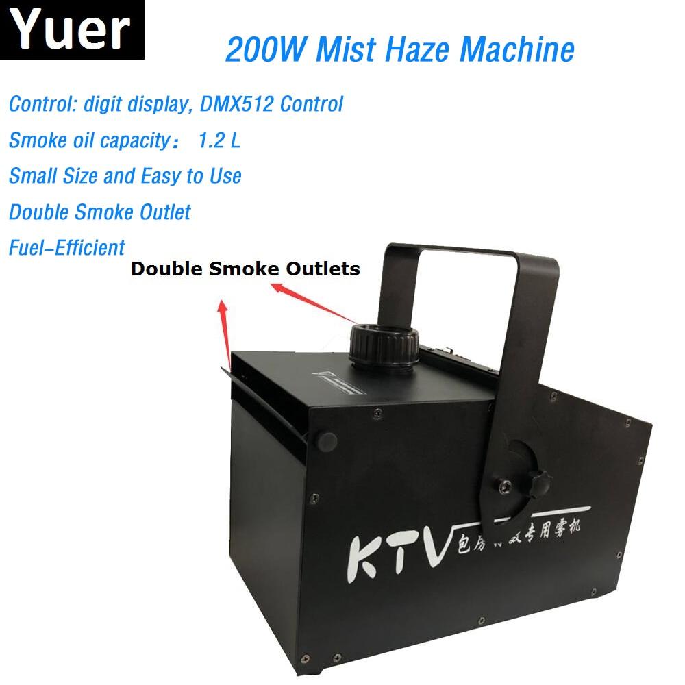 Double Smoke Outlet 200W Mist Haze Machine 1.2L Fog Machine DMX512 Smoke Machine DJ Party Show Stage Light Led Stage Machine