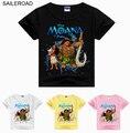SAILEROAD Moana niños Muchacha de Los Niños Camiseta de Algodón de Dibujos Animados Los Niños los niños Del Bebé Tops Camisetas La Camiseta Cothing Para 3 A 9
