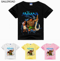SAILEROAD Summer Children Boys Girl's T Shirt Cotton Cartoon Moana Children Kids Baby Tops Shirts La Camiseta Cothing For 3 To 9