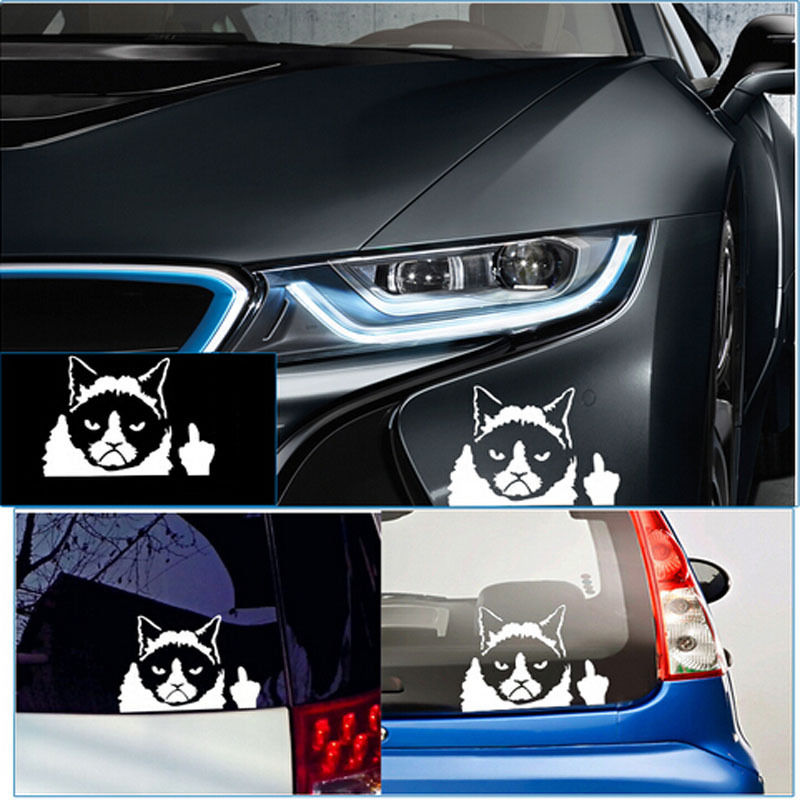 Aliexpress com buy new 1pc newly vinyl car decal sticker unique cat design auto stickers decor from reliable car decal sticker suppliers on top eshopping