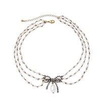 Модное ожерелье из богемиума, классическое этническое Хрустальное акриловое ожерелье с галстуком для женщин, регулируемое ожерелье ручной...