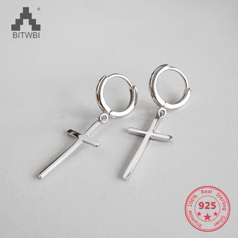 2018 New Design 925 Sterling Silver Cross Earrings Fashion Earrings For Women Brincos2018 New Design 925 Sterling Silver Cross Earrings Fashion Earrings For Women Brincos