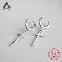2018 New Design 925 Sterling Silver Cross Earrings Fashion For Women Brincos