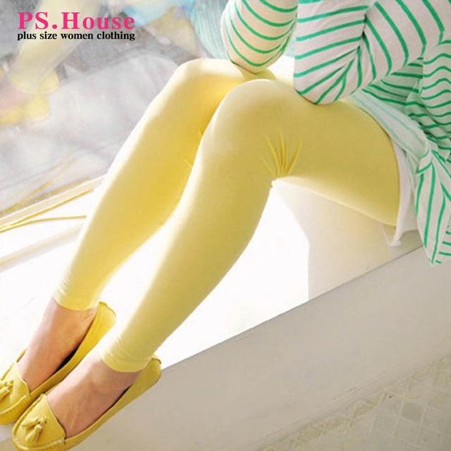 2017 Spring Summer Style Women Leggings Plus Size 3XL 4XL Slim Skinny Bodycon Leggings Cotton Leggings Black Pink White QYL04