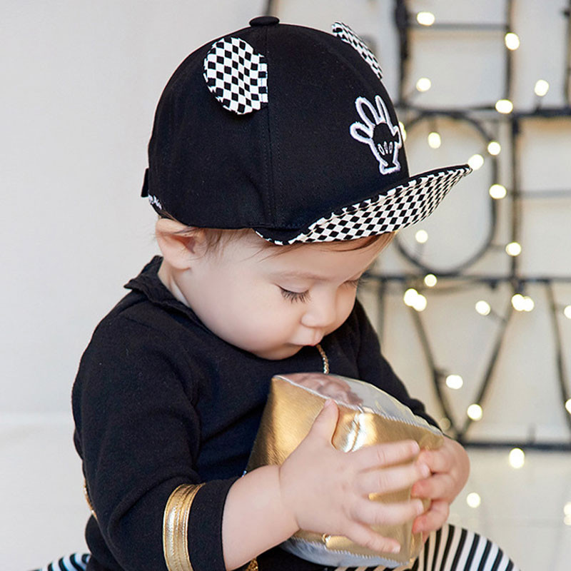 db5798258de Summer Baby Sun Hats Soft Brim Baseball Beret Cute Baby Cap Mice ...