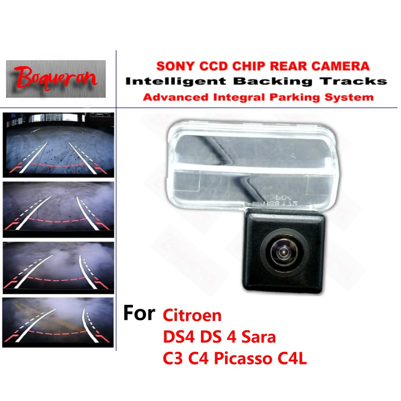 for Citroen DS4 DS 4 Sara C3 C4 Picasso C4L CCD Car Backup Parking Camera Intelligent Tracks Dynamic Guidance Rear View Camera