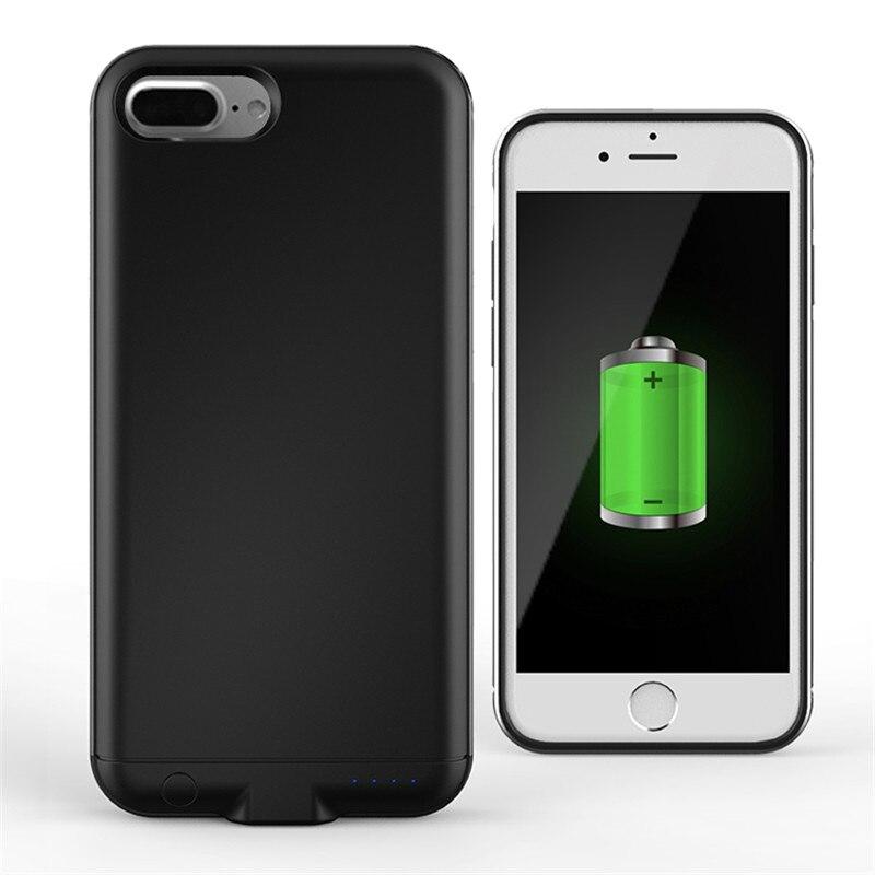 imágenes para 7 7 Más La Caja de Batería ABS y marco de Metal de Carga de la Batería Externa para el caso de apple iphone 7 7 plus contraportada caso de alimentación del cargador