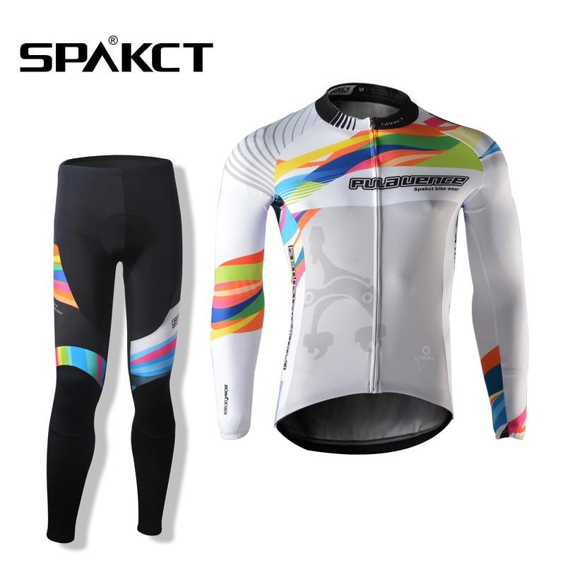 SPAKCT мужчин велосипед одежда с длинным рукавом комплект Воздухопроницаемый Джерси-Прованс Весна-Лето MTB Горный Велоспорт команда одежда