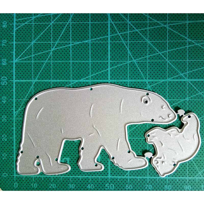 Hollow Polar Bear Metal Cutting Dies Scrapbooking Album DIY Card Craft