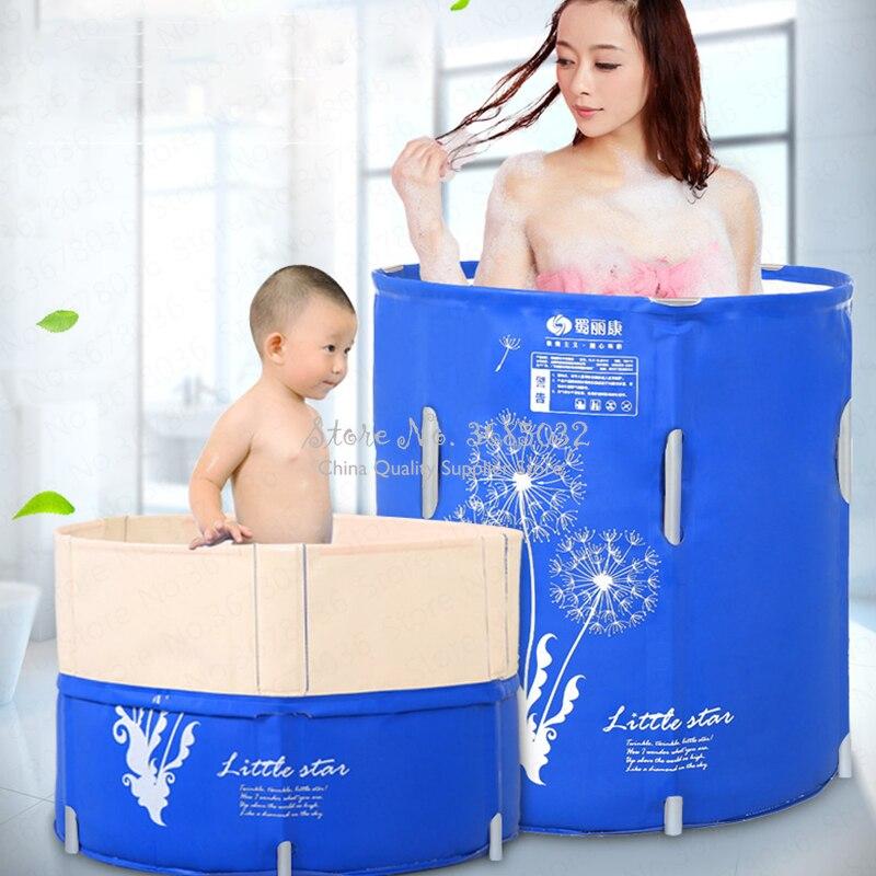 70*70cm Folding Bath Tub Adult Bath Tub Thickening Inflatable Bath Tub Children Bath Tub