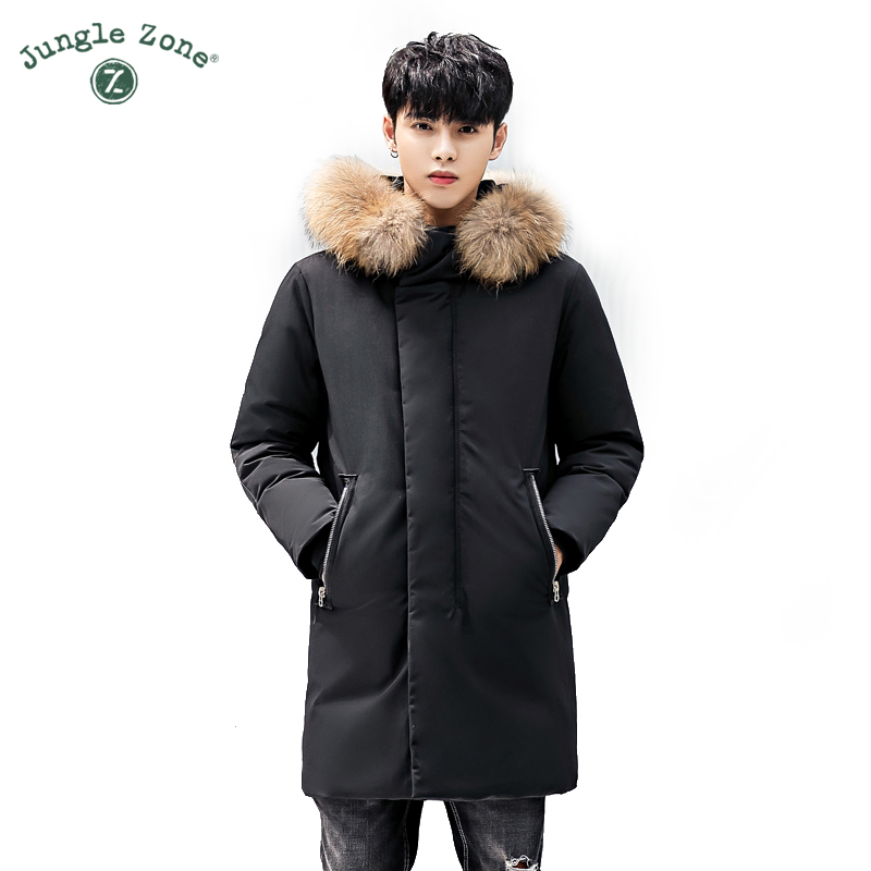 Real Fur collar hood Men's down 2018 NEW down jacket for men,winter coat men Hooded Jackets Thick Warm Casual Jackets long 1780