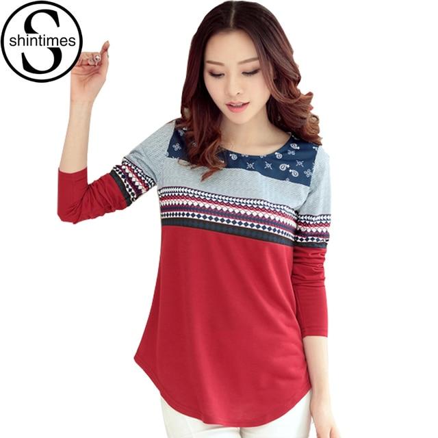 Graphic Tees Women Camisas Femininas 2016 T Shirt Women 2017 Korean Cotton Long Sleeve Tshirt T-Shirt Ropa Mujer Vetement Femme