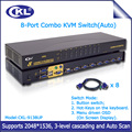 CKL-9138UP 8 port OSD USB PS/2 Combo VGA KVM Switch Rack Mount with 8 Original Cables Switcher for Keyboard Video Mouse