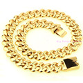New Arrived Heavy 21mm Gold-plated Cuban Casting Necklace Chain 316L Stainless Steel 60cm Long Strong Men's Jewelry 277g Huge